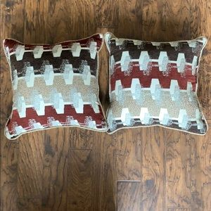 Two new never used decorative throw pillows!!